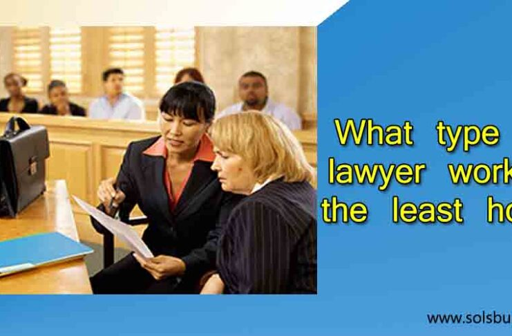 What type of lawyer work for the least hours?